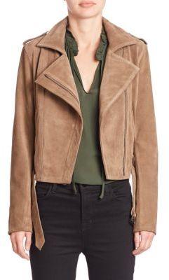 Parker Ace Suede Moto Jacket $625 thestylecure.com