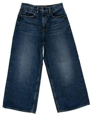 Alexander Wang Denim x High-Rise Cropped Jeans