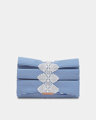 Ted Baker BIANCCA Box pleat bow evening bag
