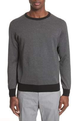 Canali Textured Cotton Sweatshirt
