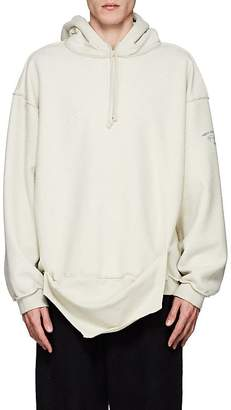 Vetements Men's Cotton-Blend Fleece Oversized Inside-Out Hoodie