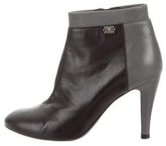 Chanel Boy-Accented Ankle Boots