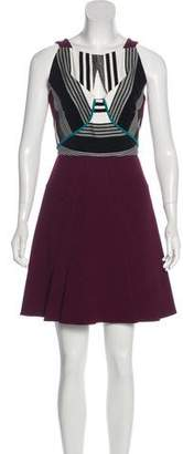 Roland Mouret Patterned Mini Dress