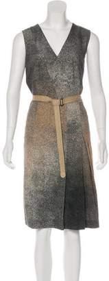 Akris Punto Pleated Midi Dress