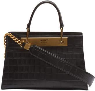 DKNY Cooper Leather Croc-Embossed Satchel