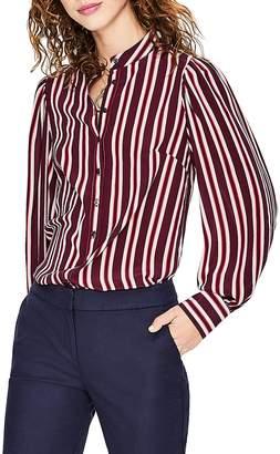 Boden Blouson Sleeve Stripe Silk Blouse