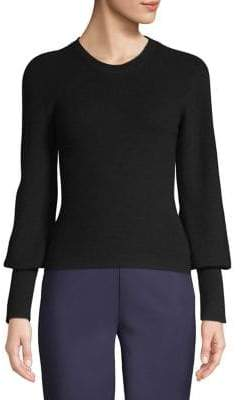 Theory Bishop-Sleeve Cashmere Sweater