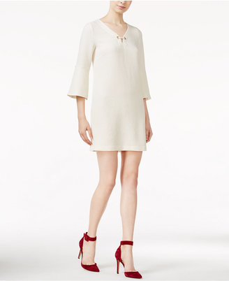 kensie Textured Bell-Sleeve Dress $89 thestylecure.com