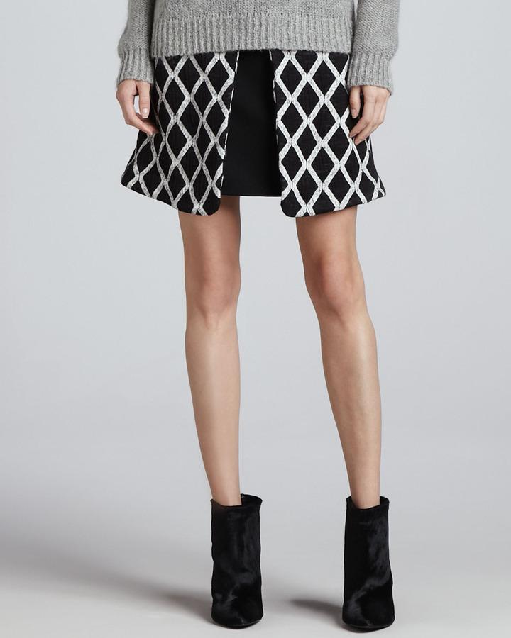 Elizabeth and James Irene Pleated Printed Skirt