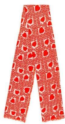 Stella McCartney Heart Print Scarf