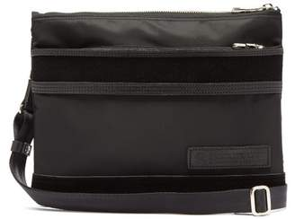 f7e7fd835243 MASTERPIECE Master Piece Density Suede And Leather Trimmed Cross Body Bag -  Mens - Black