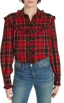 Polo Ralph Lauren Ruffle Plaid Shirt