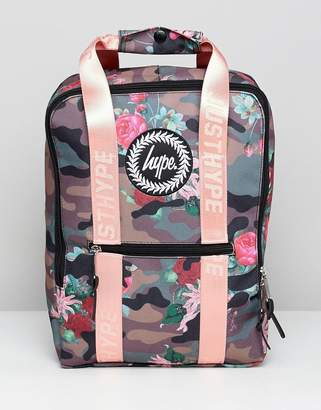 Hype Camo Pink Fl Boxy Backpack