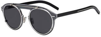 Christian Dior Genes Round Double-Frame Sunglasses