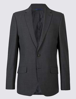 Marks and Spencer Grey Striped Tailored Fit Jacket