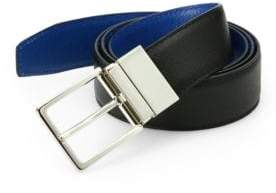 Saks Fifth Avenue Two-Toned Reversible Saffiano Leather Belt