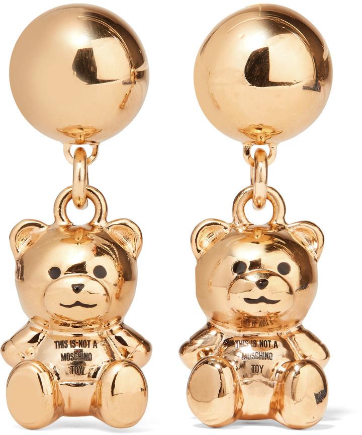 MoschinoMoschino Gold-tone enamel earrings