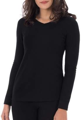 Fruit of the Loom Women's Waffle Thermal Underwear V-Neck Top