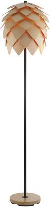 Jonathan Y Designs Simon 63In Pinecone Wood Metal Led Floor Lamp