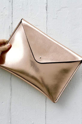 The Leather Satchel Company Leather Envelope Clutch