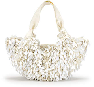 The Row The Ascot Medium Sequined Hobo Bag, White Pattern