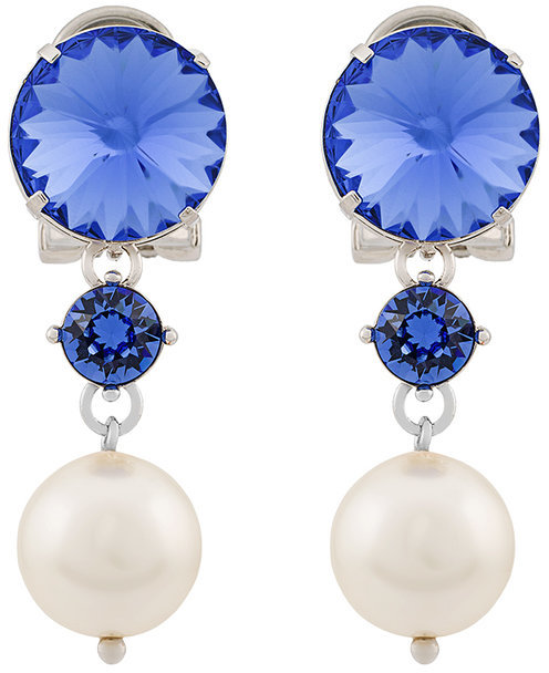 Miu Miu Miu Miu jewel pearl drop earrings