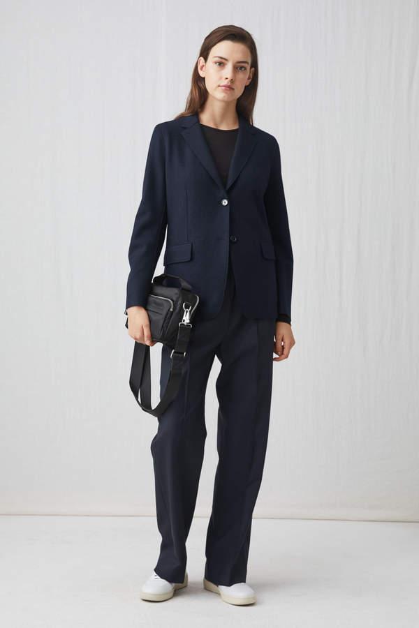 Arket Raw-Edge Wool Jersey Blazer