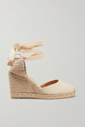 Castaner Carina 80 Canvas Wedge Espadrilles - Ivory