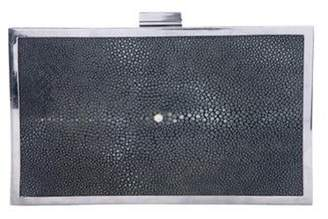 Calvin Klein Collection Stingray Box Clutch Black Stingray Box Clutch