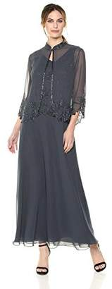 J Kara Women's Beaded Long Jacket Dress
