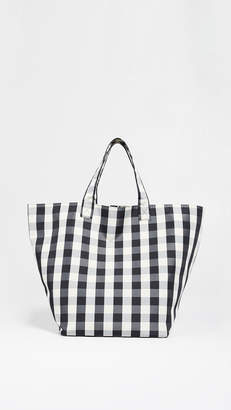Trademark Large Gingham Grocery Tote