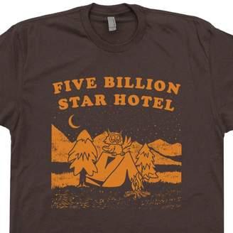 +Hotel by K-bros&Co Shirtmandude T-Shirts L - Five Billion Star Hotel Camping T Shirt Owl Yellowstone Mens Womens Kids Shirtmandude