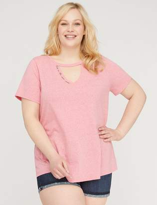 Lane Bryant Nice Is The New Cool Graphic Choker Neck Tee