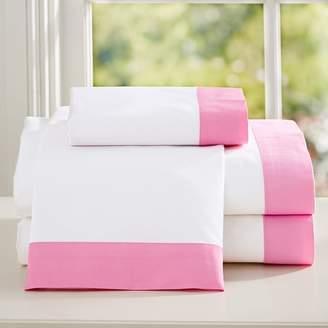 Pottery Barn Teen Suite Organic Sheet Set, Full, Bright Pink