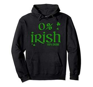 0% Irish 100% Drunk Long Sleeve Hoodie Saint Patrick's Day