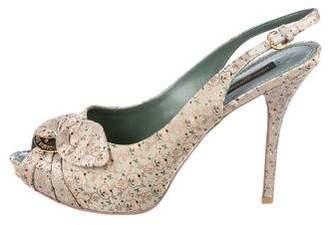 Louis Vuitton Catania Slingback Sandals w/ Tags