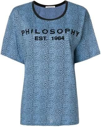 Philosophy di Lorenzo Serafini patterned logo print T-shirt