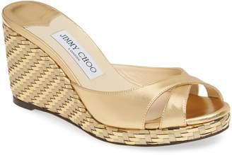 Jimmy Choo Almer Textured Wedge Sandal