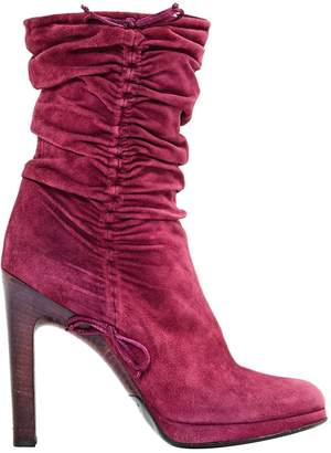 Gucci Pink Suede Ankle boots