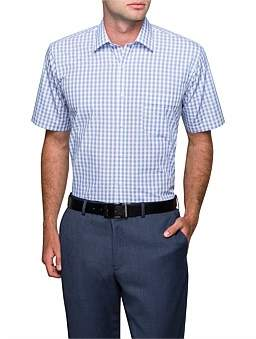 Van Heusen Gingham Check Short Sleeve Classic Fit Shirt