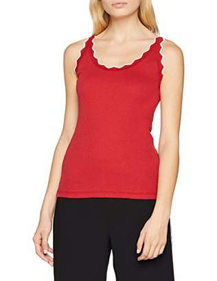 DDP Women's TOP Longsleeve T-Shirt, Red Rouge, Small