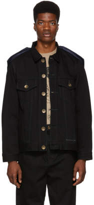 Miharayasuhiro Black Docking Denim Jacket