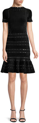 Alexander McQueen Grommet Detail Sheath Dress