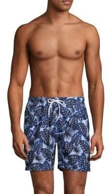 Trunks Airbrushed Leaves Swim Shorts