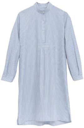 The Sleep Shirt Long Nightshirt in Blue Oxford Stripe