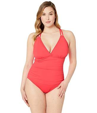 La Blanca Plus Size Surplice Underwire One-Piece