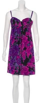 Rebecca Taylor Silk Bustier Mini Dress