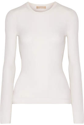 Michael Kors Collection - Ribbed Cashmere Sweater - Ivory $595 thestylecure.com