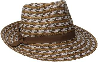 Physician Endorsed Women's Cypress Tri-Color Straw Fedora Sun Hat, Rated UPF 50+ for Max Sun Protection
