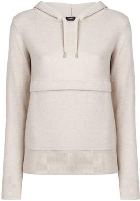 Joseph hooded knit jumper